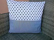 """Textil - """"Veselé chrobáčiky"""" žlto - modrý vankúšik - 10678984_"""