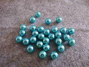 Korálky - Koráliky / perly 10 mm (20ks) - tyrkys - 10678209_