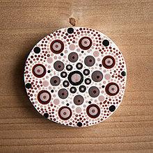 Magnetky - Magnetka - bodky hnedé 2 - 10677237_
