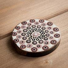 Magnetky - Magnetka - bodky hnedé 3 - 10677321_