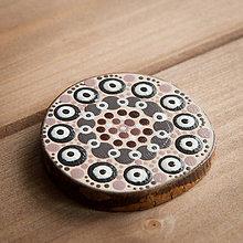 Magnetky - Magnetka - bodky hnedé 4 - 10677448_