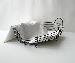 Košíky - Košík oválny s dvomi rúčkami - 10677357_