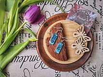 Náušnice - Dark Ocean earrings - 10678804_