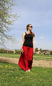 Sukne - Maxi červeno-čierna SKLADOM - 10679860_