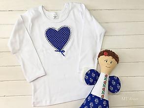 Detské oblečenie - TRIČKO s aplikáciou, personalizovane tričko - 10679959_