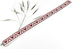 Náhrdelníky - Veselé srdce III - folk vyšívaný choker - 10679169_