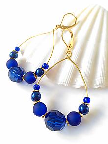 Náušnice - BOHO séria - modré náušnice - 10676986_
