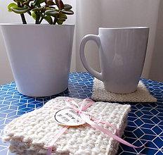 Úžitkový textil - Háčkované podložky - 10681826_