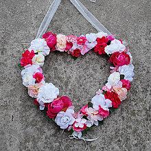 Dekorácie - Veľké svadobné srdce na auto alebo za mladomanželov - 10683063_