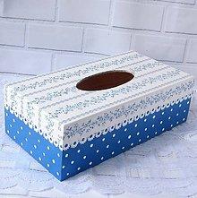 Krabičky - Krabica na vreckovky- Blue - 10682210_