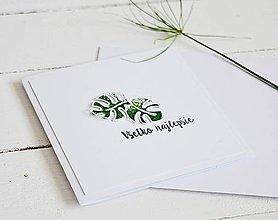 Papiernictvo - Gratulačný pozdrav - monstery zelené - 10682314_