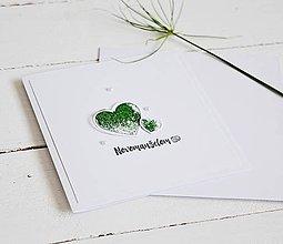 Papiernictvo - Svadobný pozdrav - zelené srdiečka - 10682320_