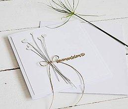 Papiernictvo - Svadobný pozdrav - kytička srdiečok - 10682323_