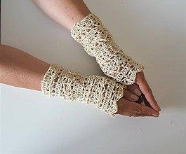 Rukavice - Nátepníky z ručne pradenej vlny -od ovečky s menom - 10682878_