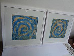 Obrazy - Zlatomodré špirály - 10681919_