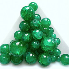 Korálky - Skl.KRAKL smaragd-MIX 48ks - 10682589_