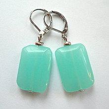 Náušnice - HM-015-Minerálky-obdĺžničky - 10682937_