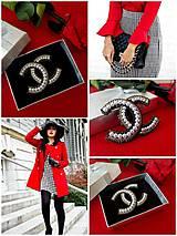 """Odznaky/Brošne - Luxusná brošňa ako od ,,Coco Chanel """" - 10682745_"""