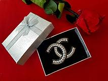 """Odznaky/Brošne - Luxusná brošňa ako od ,,Coco Chanel """" - 10682750_"""