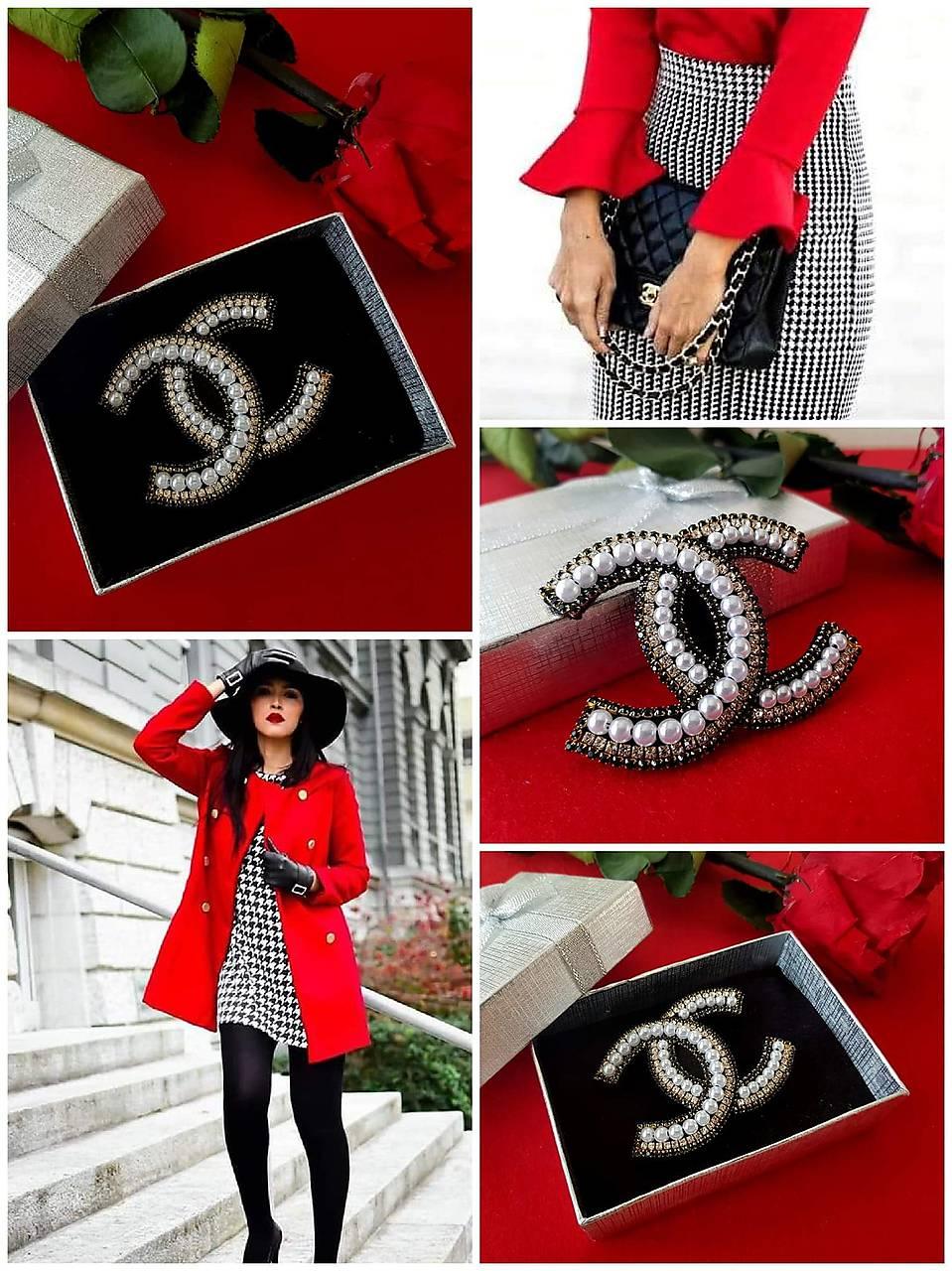 Luxusná brošňa ako od ,,Coco Chanel
