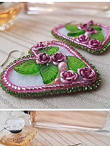 Náušnice - ,, Zo šperkovnice šípovej Ruženka