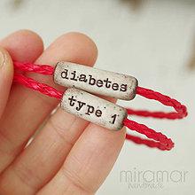 Náramky - náramok - osobný - diabetes - 10680553_