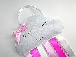 Detské doplnky - Sponkovník (Obláčik a dúha- ružové odtiene) - 10680142_