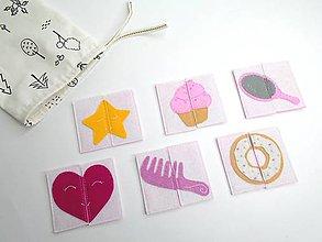 Hračky - Montessori pexeso: Sladký dievčenský svet (6 párov) - 10680155_
