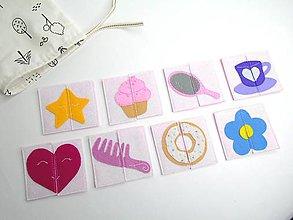 Hračky - Montessori pexeso: Sladký dievčenský svet (8 párov) - 10680162_