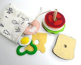 Hračky - Montessori skladačka: Priprav si svoj sendvič - 10680235_