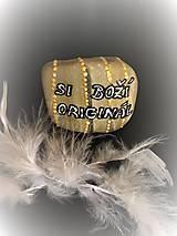 Dekorácie - Kameň s nápisom - 10683044_