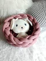 Úžitkový textil - CHUNKY BASKET staroružový - 10681021_