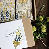 Úžitkový textil - Darčekové balenie vankúsov - lúka - 10681040_