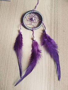 Dekorácie - Maly sedo- fialový lapac - 10682072_