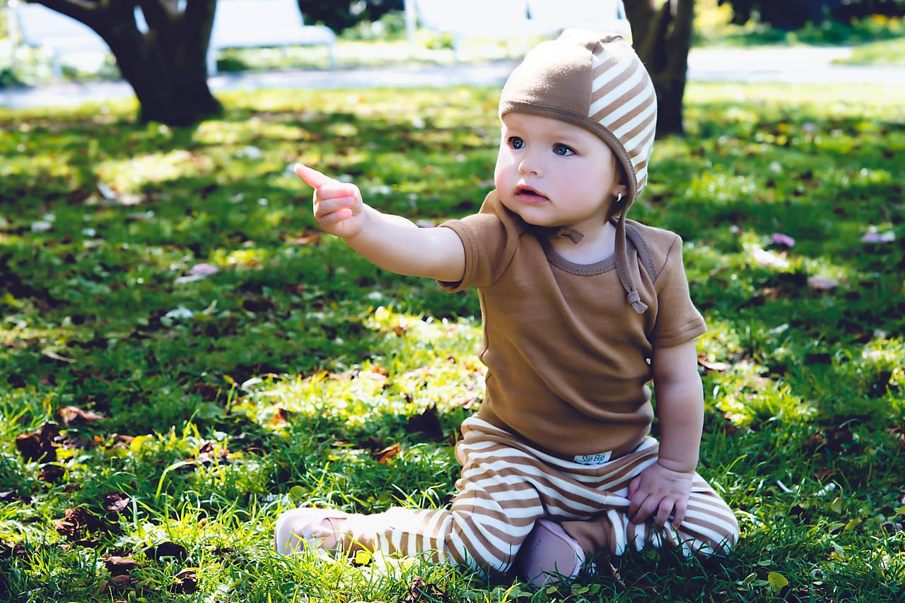 Detské oblečenie - Body hnedé NATURE (bio bavlna) - 10680718_