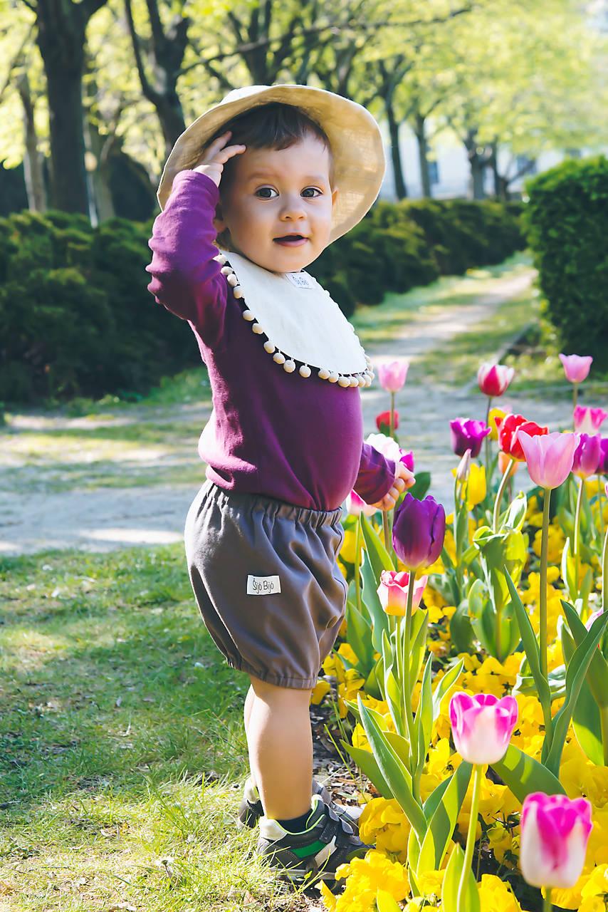 Detské oblečenie - PUPU kraťasky tmavošedé (bio-bavlna) - 10680827_