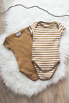 Detské oblečenie - Body NATURE (bio bavlna) - 10680465_