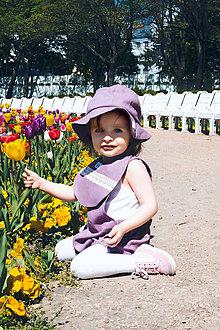 Detské oblečenie - FIALKA- Ľanové romperky SIMPLE - 10680836_
