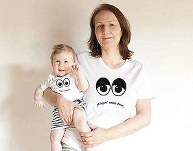 Tričká - set tričiek pre mamu a dieťa - 10682203_