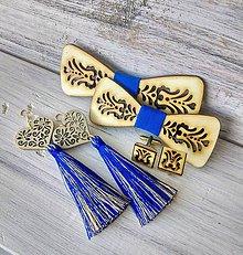 """Sady šperkov - Rodinný set """"Junák""""  (2x motýlik + gombíky + náušnice) - 10680564_"""