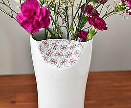 Dekorácie - Váza jemně dekorovaná - 10680081_