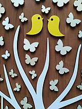 Dekorácie - Svadobná kniha hostí - strom/motýle - 10682542_