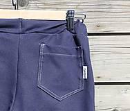 Nohavice - Nohavice rovný strih - jeansový vzhľad - 10680062_
