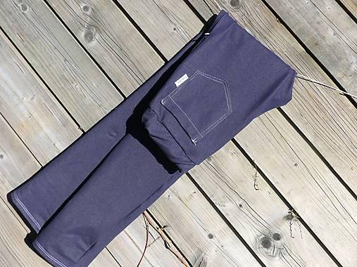 Nohavice rovný strih - jeansový vzhľad
