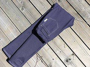 Nohavice - Nohavice rovný strih - jeansový vzhľad - 10680064_