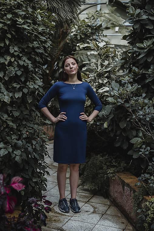 Šaty - Šaty tmavě modré - 10683084_