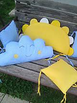 Textil - vankúšik slniečko 60 x 30 - 10682754_
