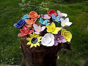 Drobnosti - Keramické Kvety - 10681141_