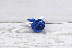 Pierka - Pierko tmavomodro-biele ruža - 10681858_