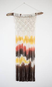 """Dekorácie - Nástenná dekorácia z dreva a vlny """"Indiánske leto"""" - 10681206_"""
